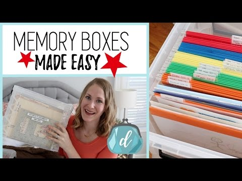 How to organize memorabilia & kids' artwork! ❤️ Memory Box Ideas