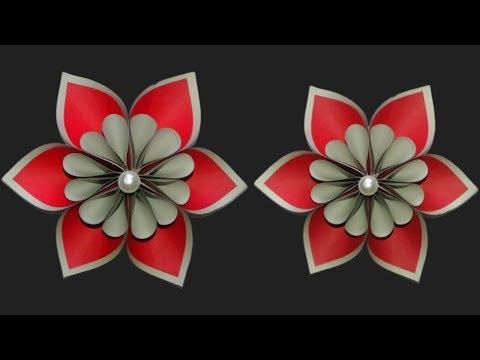 Origami Flower   DIY Origami Paper Flower   Paper Flower Craft idea    SUNIL CREATION