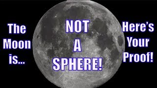 FLAT EARTH: LUNAR ECLIPSE PROVES THE MOON IS NOT SPHERICAL!!