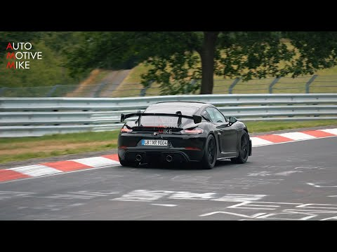 2021 PORSCHE 718 CAYMAN GT4 RS SPIED TESTING AT THE NÜRBURGRING
