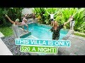 This BALI VILLA is ONLY $20!! | LUXURY ASIA LIVING for Jess Birthday - Canggu & Ubud Vlog