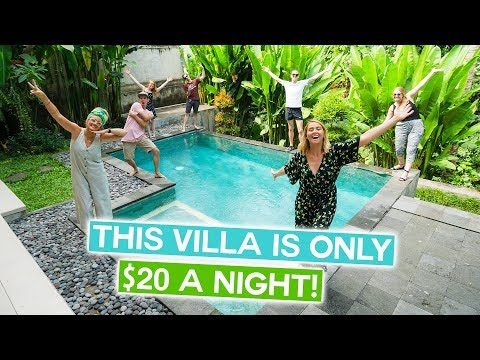 This BALI VILLA Is ONLY $20!! | LUXURY ASIA LIVING For Jess Birthday - Canggu & Ubud Vlog