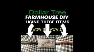 Dollar Tree FARMHOUSE Diy...One Of My Favorites!!!