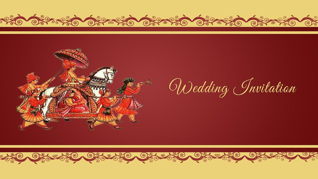 Indian Wedding Invitation Design - Menshealtharts