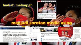 BANJIR HADIAH GREYSIA POLII / APRIYANI RAHAYU DISOROT MEDIA ASING