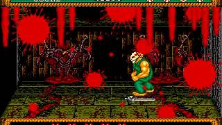 Splatterhouse 2 Stage 1-8 Gameplay Walkthrough