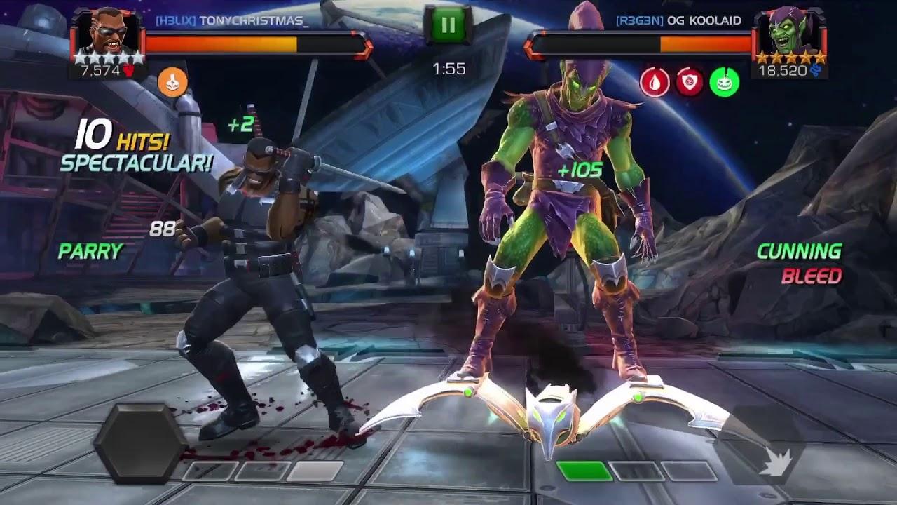 MCoC: Blade vs  Green Goblin (Node 24/ Buffet) in AW : LightTube
