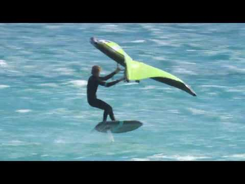 SPG Pilot- NateV 1st CAPE TOWN DOWNWIND SESSION ON INFLATABLE AIR WING