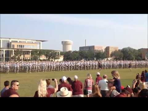 Fightin' Texas Aggie Band and Texas A&M Cadet Corps Pass in Review August 29, 2015 Fish Class Review