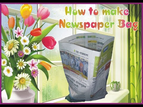 How to make Newspaper Bag from waste newspaper