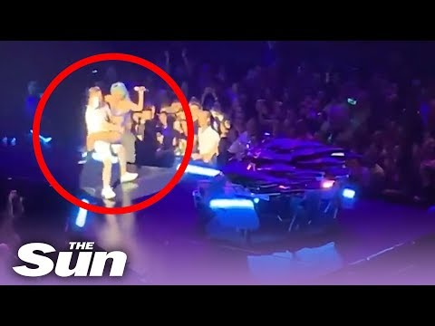 The Dave Ryan Show - Watch as Lady Gaga Plummets Off Stage in a Fan's Arms During Vegas Show