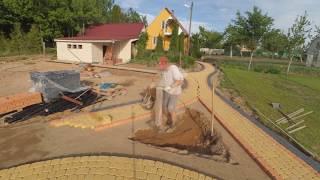 Укладка тротуарной плитки без борта