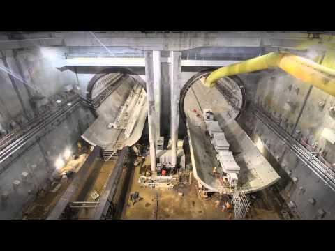 Alice Tunnel Boring Machine (TBM) turnaround inside the NAT.