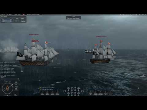 Naval Action: Pirates' Fleet Engaging British Defense at KPR (Huge Battle)