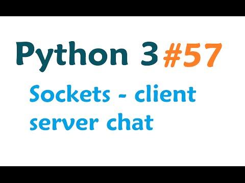 Python 3 Programming Tutorial - Sockets: client server system