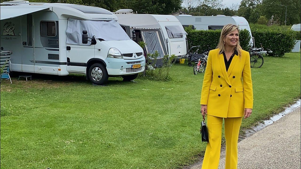 Glamping en geklauter: Koningin Máxima naar Zeeland