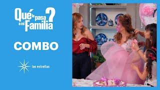 ¿Qué le pasa a mi familia?: ¡Violeta empuja a Ponchita en su pastel! | C-67 | Las Estrellas