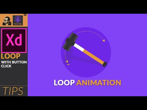 Looping Animation in Adobe XD with button click | Tips