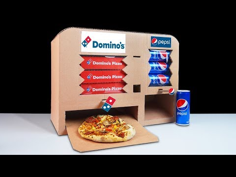 How to Make Dominos Pizza and Pepsi Vending Machine