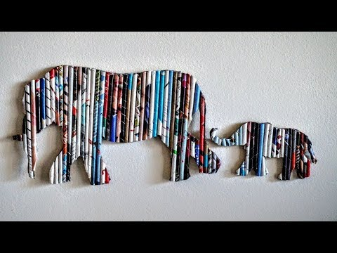 DIY Handmade Wall Decor using Cardboard   Home Decor Wall Art  Elephant Wall Hanging   Art and Craft