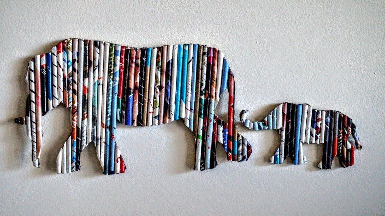 DIY Handmade Wall Decor using Cardboard | Home Decor Wall ...