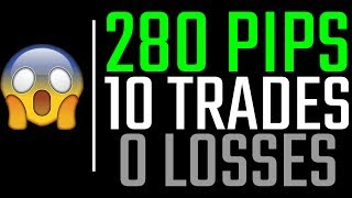 EPIC: 280 PIPS, 10 FOREX TRADES, AND ZERO FREAKIN' LOSSES