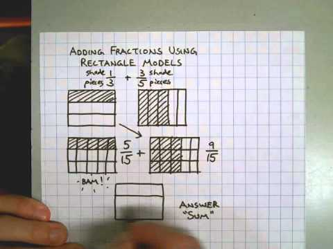 adding fractions with rectangle models youtube. Black Bedroom Furniture Sets. Home Design Ideas