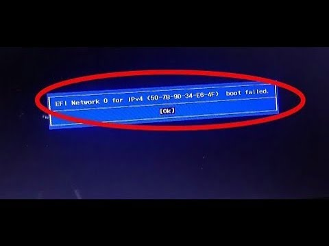 efi network 0 for ipv4/ipv6 boot failed lenovo - boot failed