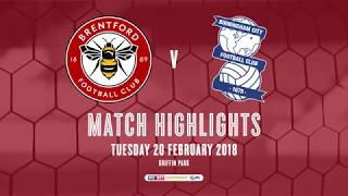 2017/18 HIGHLIGHTS: Brentford 5-0 Birmingham City