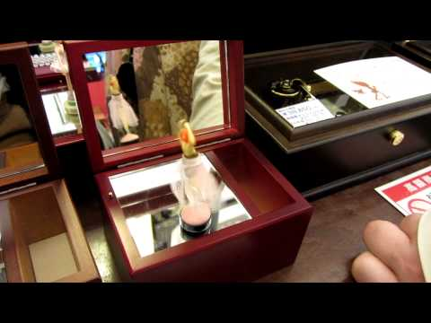 Spinning ballerina music box in Otaru, Japan