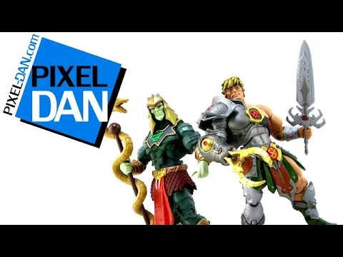 Masters of the Universe Classics Snake Armor He-Man vs Battle Armor King Hsss Figures Video Review