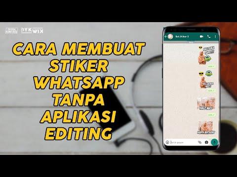 Cara Membuat Stiker Whatsapp Tanpa Aplikasi Editing Tutorial Kamu Bisa Youtube