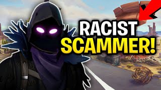 Racist Dumb Scammer Scams Himself Hard! (Scammer Gets Scammed) Fortnite Save The World