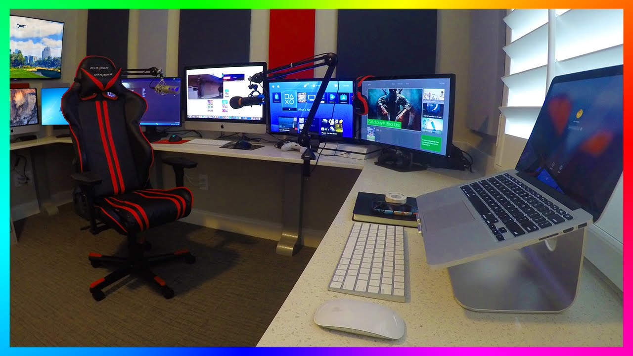 office computer setup. MRBOSSFTW NEW 2016 GAMING, STREAMING \u0026 OFFICE SETUP - ULTIMATE YOUTUBE GAMING SETUP! YouTube Office Computer Setup