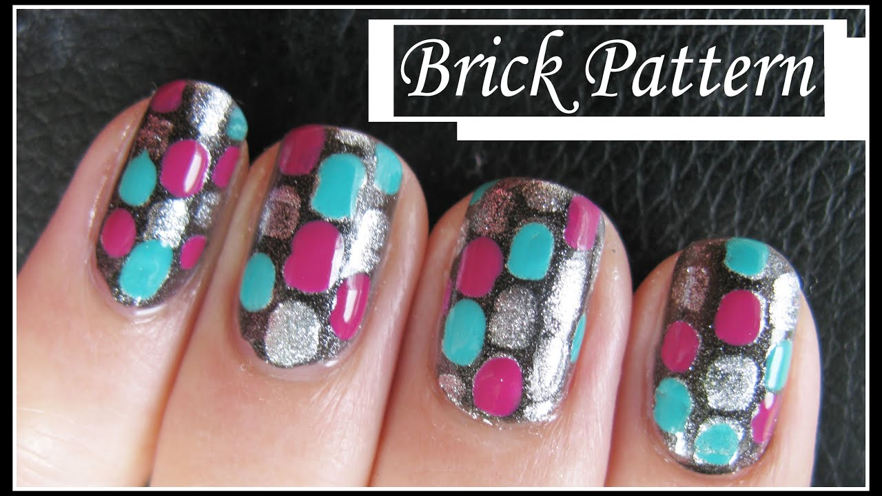 Easy brick pattern nail art design free hand nails tutorial easy brick pattern nail art design free hand nails tutorial beginners simple diy youtube prinsesfo Gallery