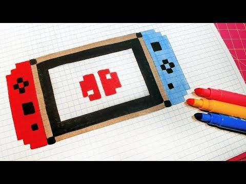 Handmade Pixel Art - How To Draw a Switch #pixelart