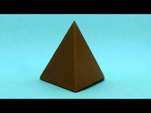 World Record Paper Pyramid   How To Make Origami Pyramid Box   DIY Best Origami Paper Craft Pyramid