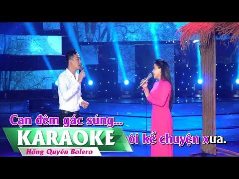 Vọng Gác Đêm Sương (Karaoke Song Ca) Đoàn Minh, Hồng Quyên