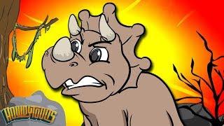 Dinosaurs Walking Through the Desert - Dinosaur Songs from Dinostory by Howdytoons S02E3