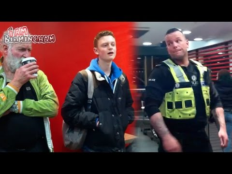 """Teenager takes on cops arresting """"homeless"""" man in McDonald's"""