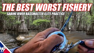 The BEST WORST FISHERY - Bassmaster Elite Sabine River Practice-Unfinished Family Business Ep.19(4K)