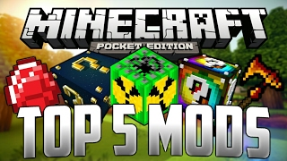 TOP 5 MODS PARA MINECRAFT PE 1.2 !!