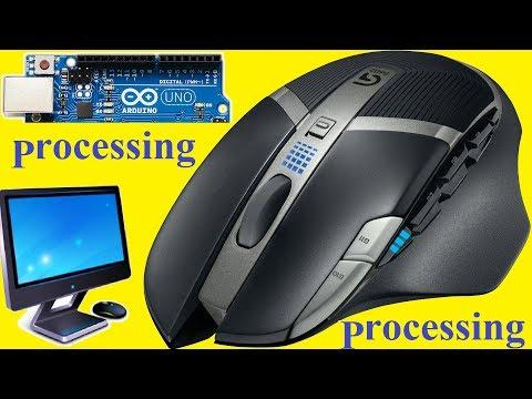 Arduino Processing МЫШЬ Mouse serial COM port Servo Pan Tilt Лайфхак Своими руками