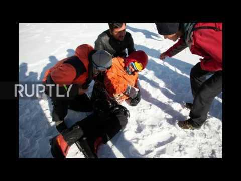 Pakistan: Stranded Russian climber rescued from Karakoram peak *STILLS*