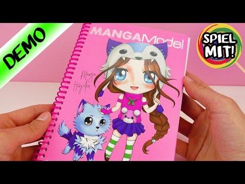 MANGA zeichnen für Anfänger mit TOPMODEL Malbuch | MangaModel Demo Spiel mit mir Kinderspielzeug