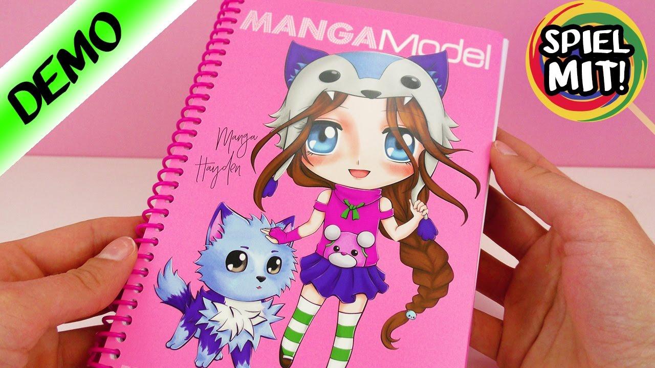 MANGA zeichnen für Anfänger mit TOPMODEL Malbuch | MangaModel Demo ...