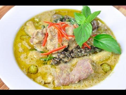 Thai Food Gang Kiew Wan Brandy Green Curry with Brandy