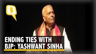 Yashwant Sinha Quits BJP & Politics, Forms Non-Political Forum