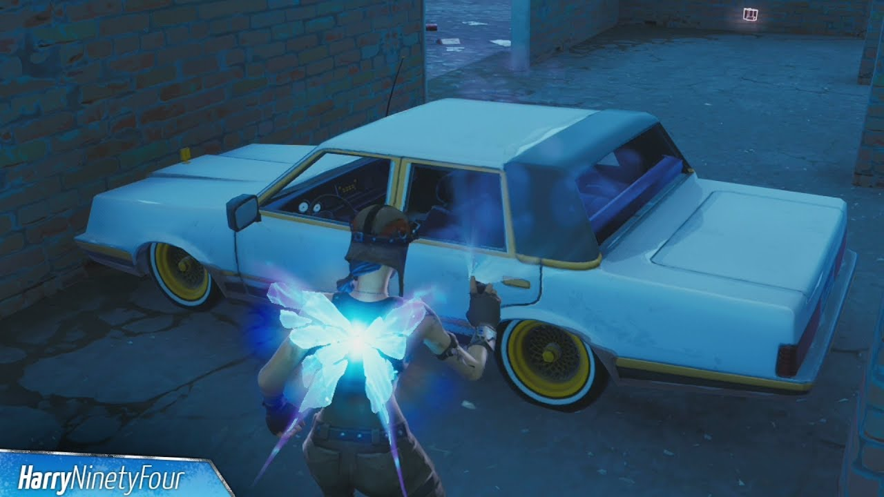 Spray Cars Or Trucks In Different Named Locations Guide Fortnite Spray Pray Challenge Youtube
