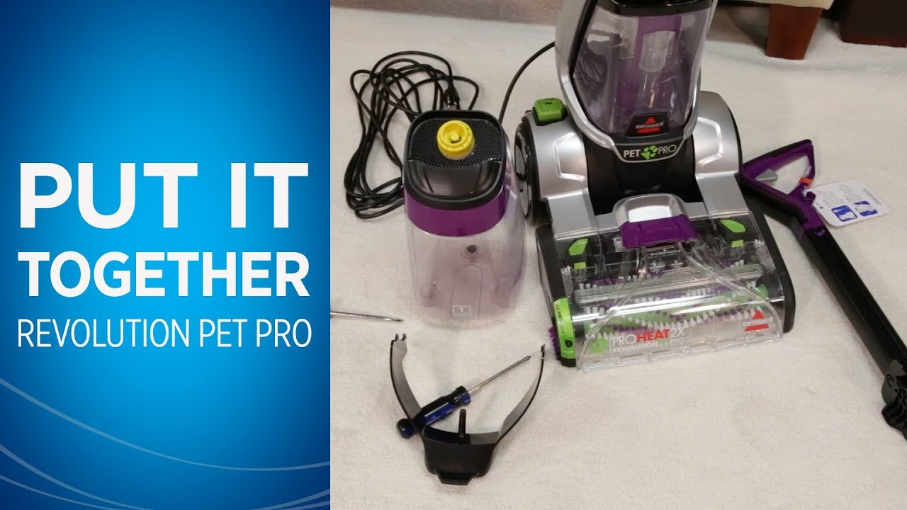 how to assemble the proheat 2x revolution pet pro carpet cleaner bissell - Bissell Pet Carpet Cleaner